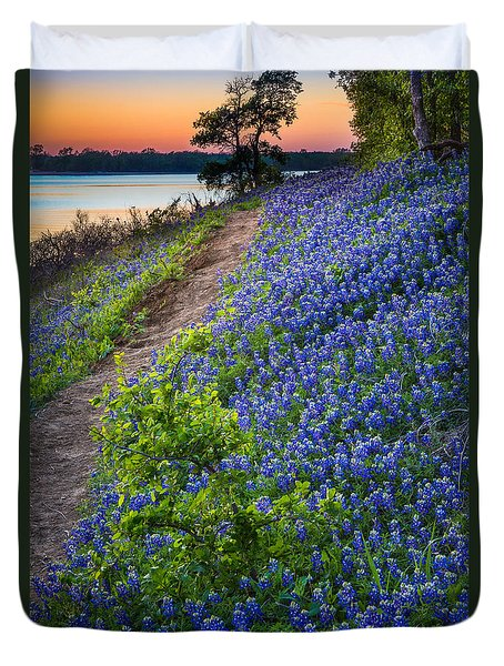 Flower Mound Duvet Cover