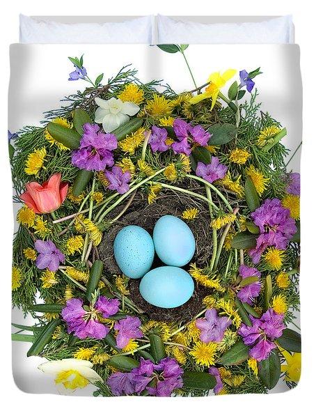 Flower Nest Duvet Cover