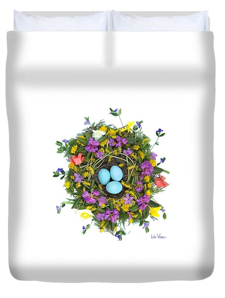 Flower Nest Duvet Cover