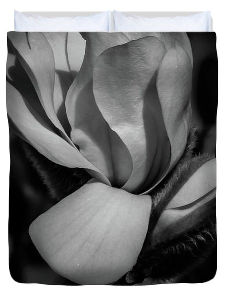 Flower Noir Duvet Cover