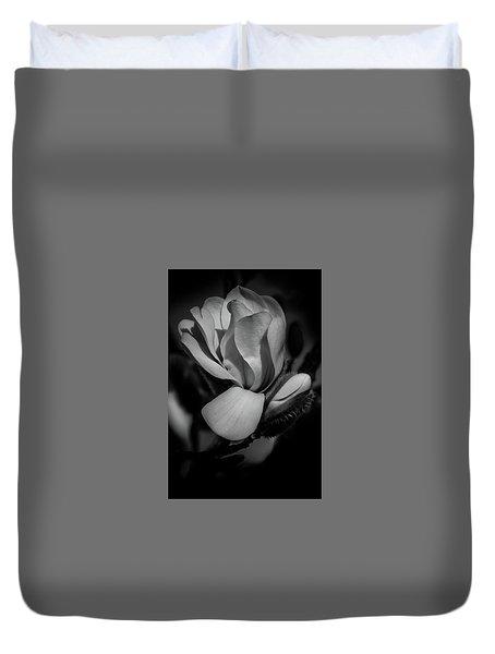 Flower Noir Duvet Cover