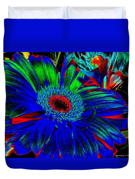 Flower Of Blue Duvet Cover