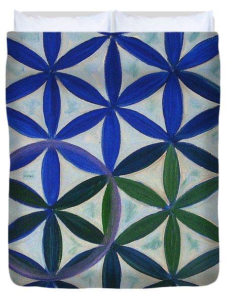Flower Of Life Pattern Duvet Cover by Art by Kar