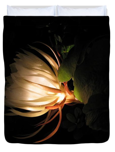 Flower Of The Night 03 Duvet Cover by Andrea Jean