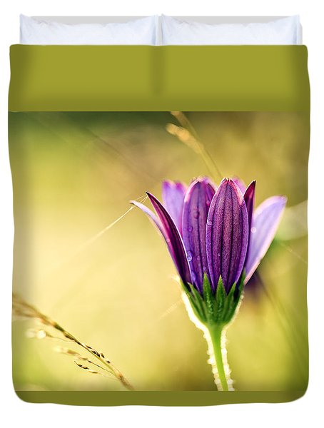 Flower On Summer Meadow Duvet Cover