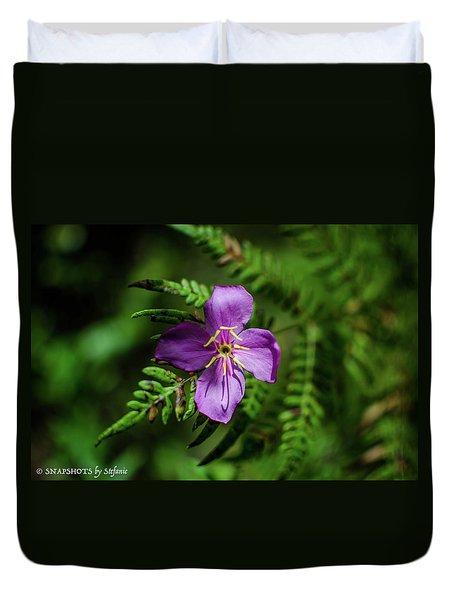 Flower On The Fern Duvet Cover