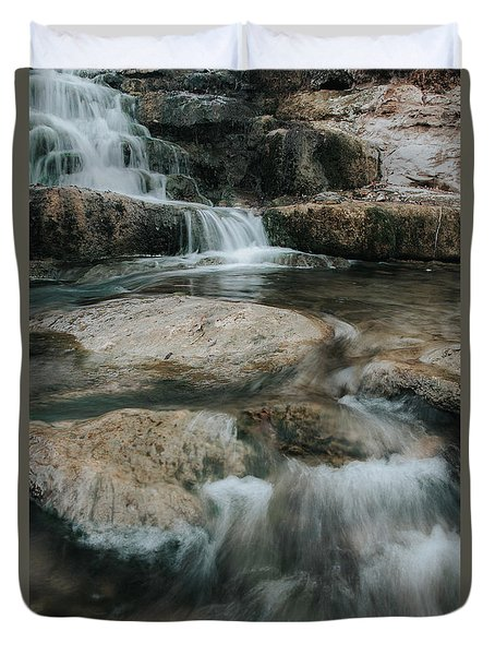 Duvet Cover featuring the photograph Flower Park by Iris Greenwell