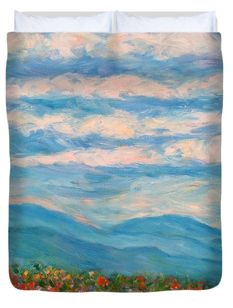 Flower Path To The Blue Ridge Duvet Cover