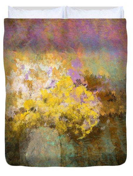 Flower Pot Duvet Cover by Jessica Wright