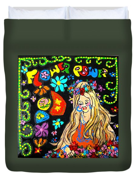 Flower Power Duvet Cover by Barbara O'Toole