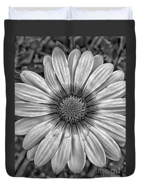 Flower Power - Bw Duvet Cover