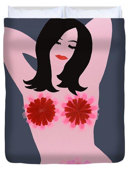 Flower Power - Pink Duvet Cover