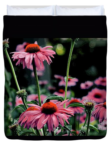 Duvet Cover featuring the photograph Flower Power by Tom Prendergast