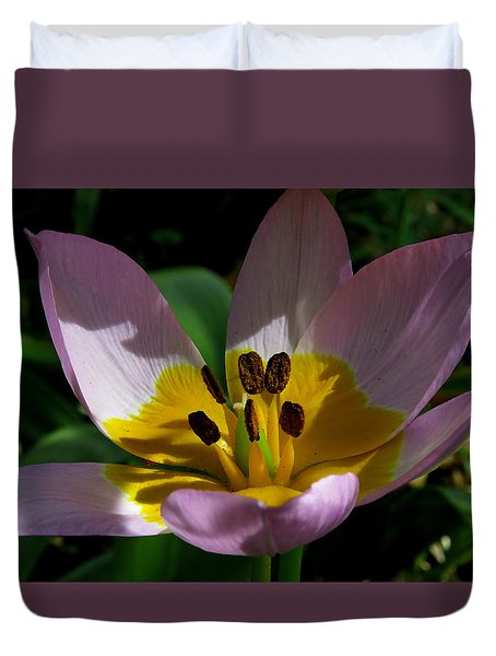Flower Shadows Duvet Cover