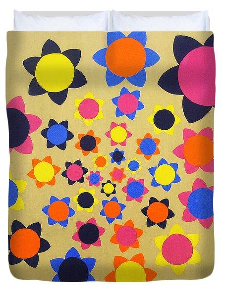Flower Shower Duvet Cover by Oliver Johnston
