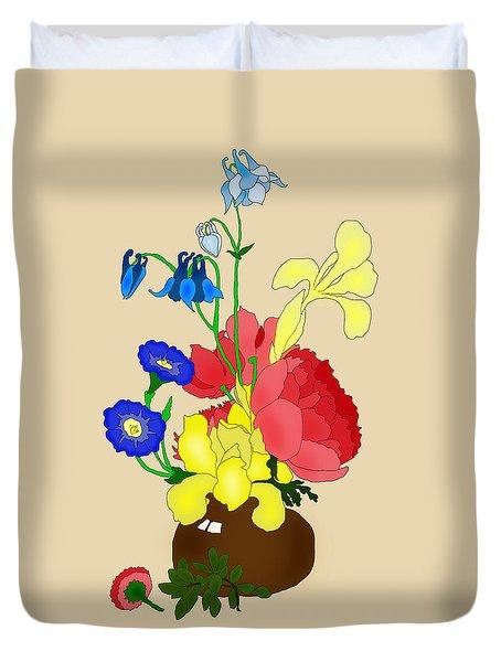 Floral Still Life 1674 Duvet Cover