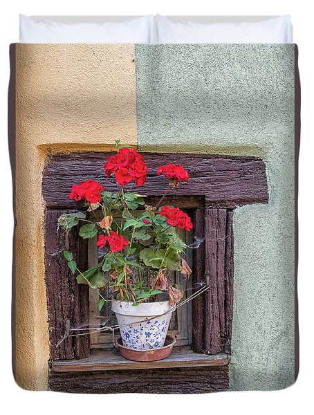 Duvet Cover featuring the photograph Flower Still Life by Alan Toepfer