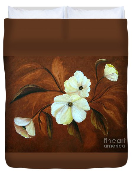 Flower Study Duvet Cover by Carol Sweetwood