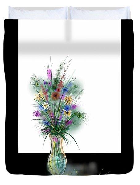Flower Study One Duvet Cover