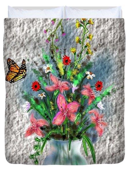 Flower Study Three Duvet Cover