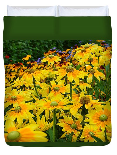 Flowers Tapestry Duvet Cover by Felicia Tica