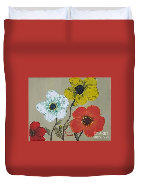 Flower Trio Duvet Cover
