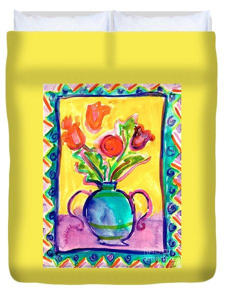 Flower Vase Duvet Cover