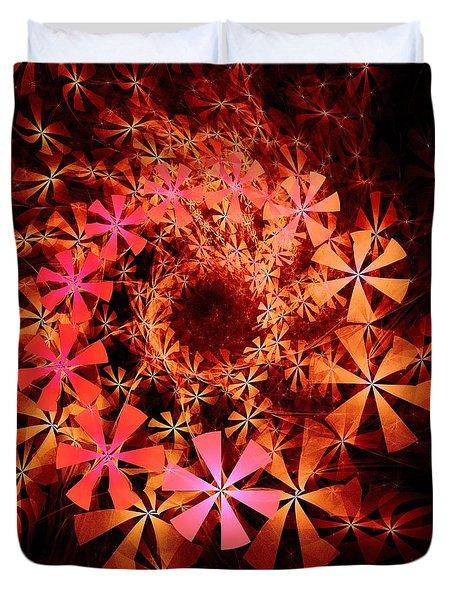 Flower Whirlpool Duvet Cover by Anastasiya Malakhova