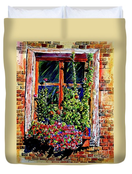 Flower Window Duvet Cover by Terry Banderas