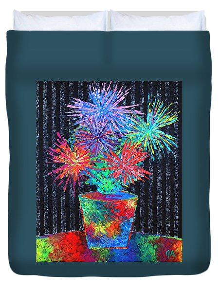 Flower-works Plant Duvet Cover