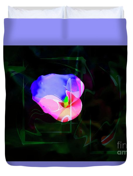 Duvet Cover featuring the photograph Flower Wower by Al Bourassa