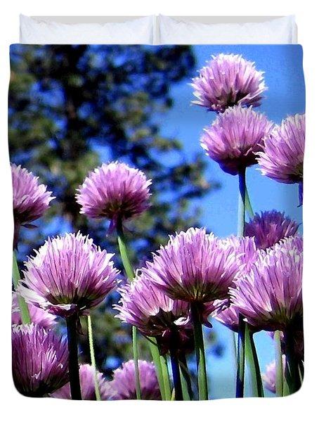 Flowering Chives Duvet Cover