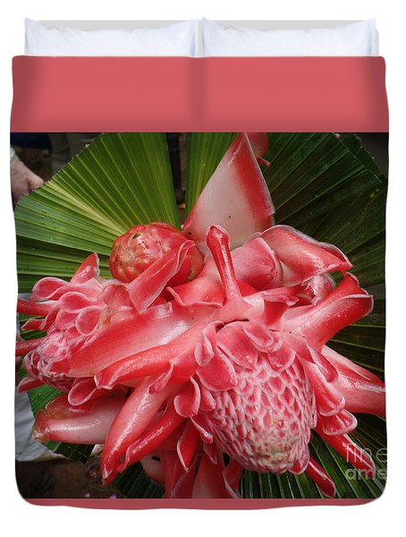 Flowering Coconiut Sao Tome Duvet Cover