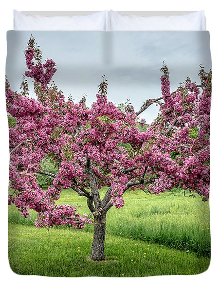 Flowering Crabtree Duvet Cover