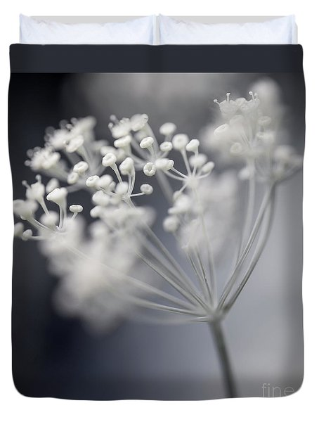 Duvet Cover featuring the photograph Flowering Dill Cluster by Elena Elisseeva