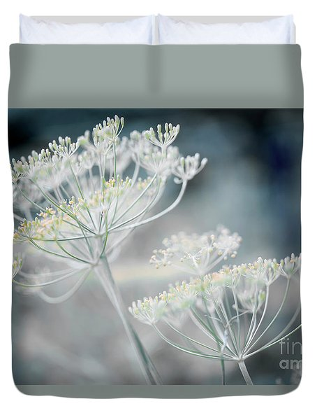 Duvet Cover featuring the photograph Flowering Dill Clusters by Elena Elisseeva