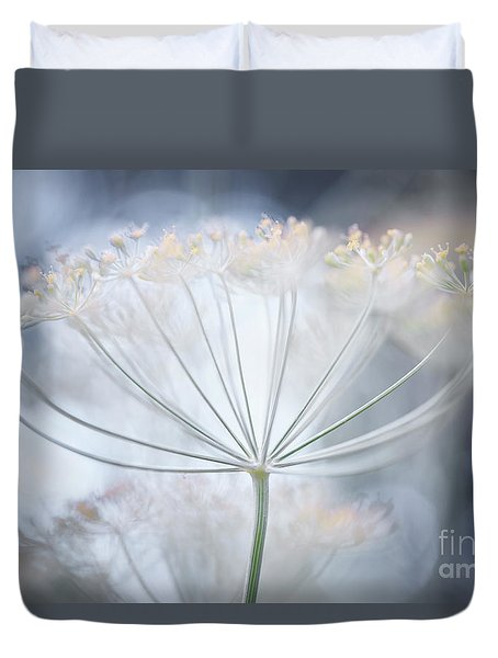 Duvet Cover featuring the photograph Flowering Dill Details by Elena Elisseeva
