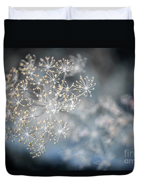 Duvet Cover featuring the photograph Flowering Dill Macro by Elena Elisseeva