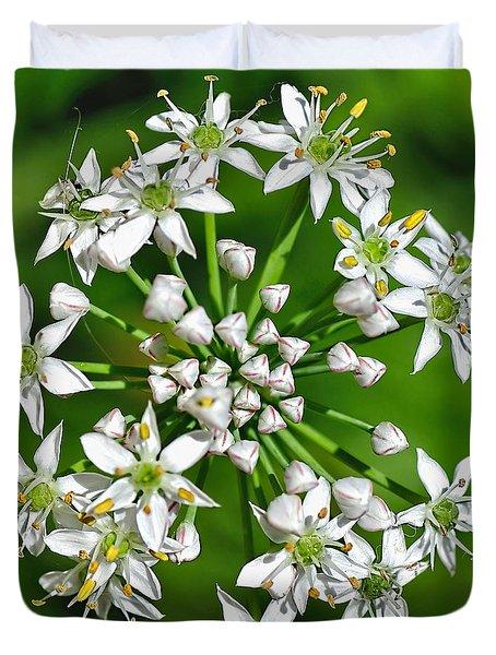 Flowering Garlic Chives Duvet Cover