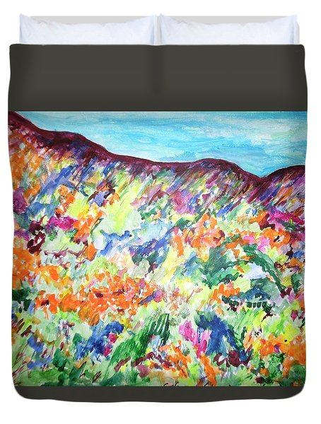 Flowering Hills Duvet Cover by Esther Newman-Cohen