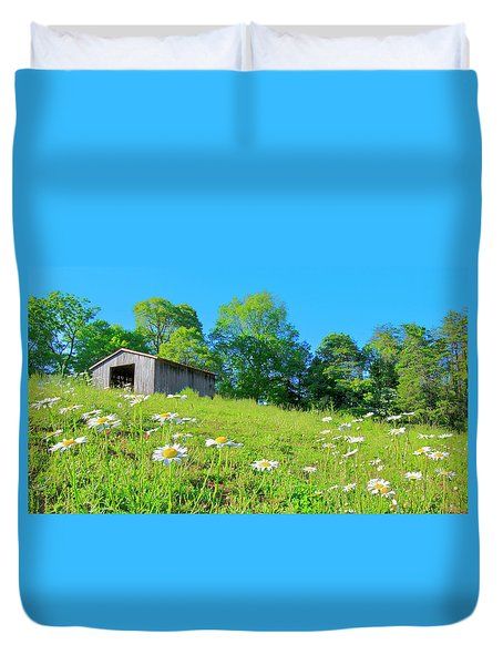 Flowering Hillside Meadow - View 2 Duvet Cover
