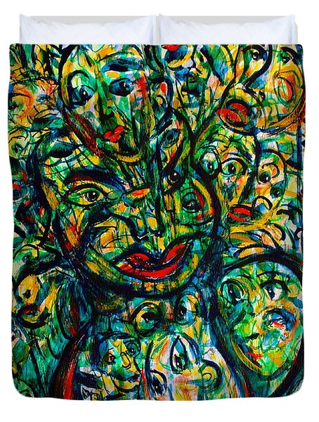 Flowering Humans Duvet Cover by Natalie Holland
