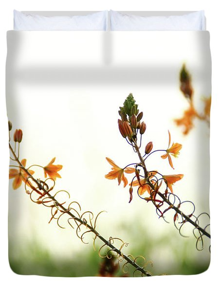 Duvet Cover featuring the photograph Flowering In Israel At The Sunset by Yoel Koskas