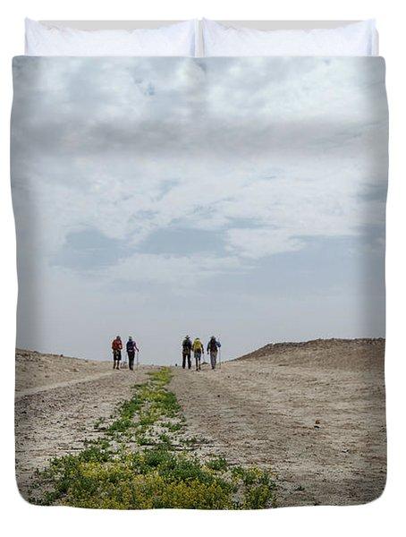 Flowering In The Desert Duvet Cover