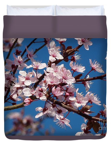 Flowering Of The Plum Tree 5 Duvet Cover by Jean Bernard Roussilhe