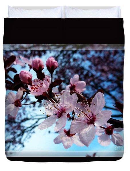 Flowering Of The Plum Tree 6 Duvet Cover by Jean Bernard Roussilhe