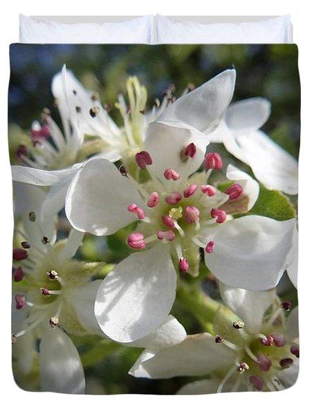 Flowering Of White Flowers 2 Duvet Cover