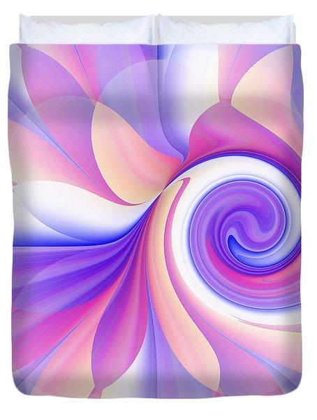 Flowering Pastel Duvet Cover