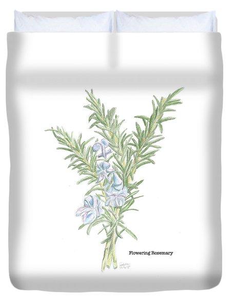 Flowering Rosemary Duvet Cover