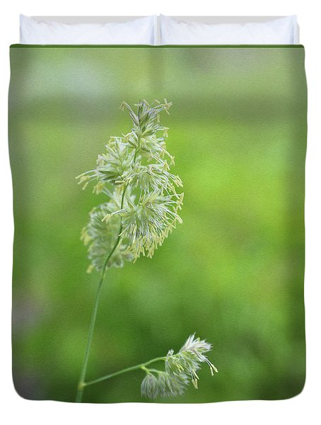 Flowering Tall Grass Duvet Cover